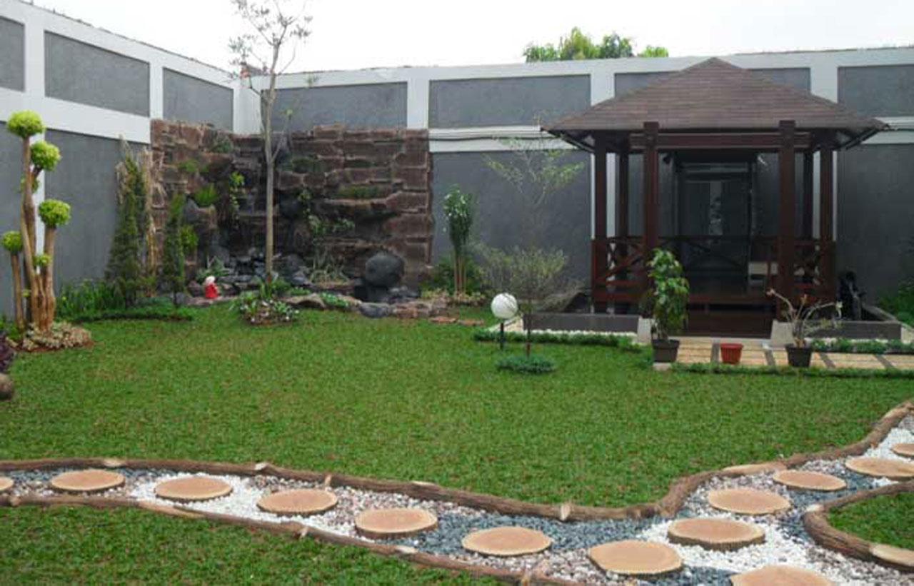 Pembuatan Taman, Kolam,Gazebo dan Pengaadaan Tanaman