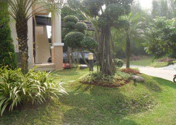 Pembuatan Taman, Gazebo dan Kolam Kecil di Perumahan BSD, Serpong Tangerang