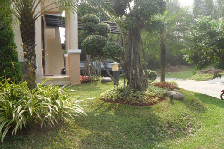 Pembuatan Taman Tropis, Gazebo dan Kolam Kecil di Perumahan BSD, Serpong Tangerang